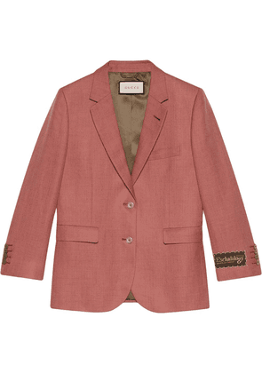 Gucci Eschatology label single-breasted jacket - Brown