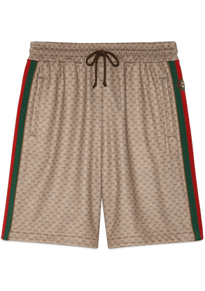 Gucci GG jersey shorts - Brown