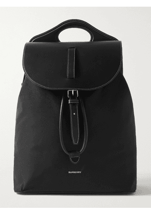 Burberry - Leather and Nylon Backpack - Men - Black