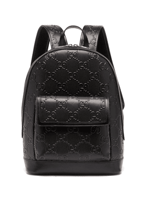 Gucci - GG Tennis Leather Backpack - Mens - Black