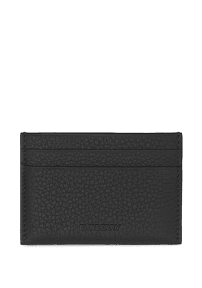 Burberry grained-leather cardholder - Black