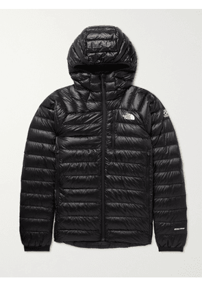 THE NORTH FACE - Summit Quilted Nylon-Ripstop Down Hooded Jacket - Men - Black - M