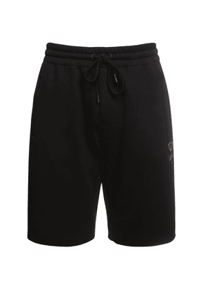 Bee & Crown Embroidered Cotton Shorts