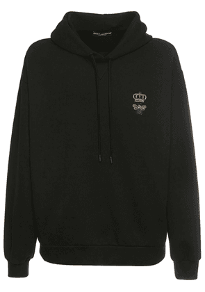 Bee & Crown Embroidered Cotton Hoodie