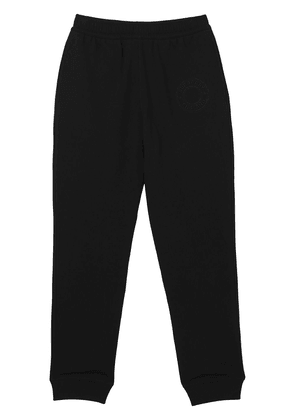 Burberry embroidered-logo cropped sweatpants - Black