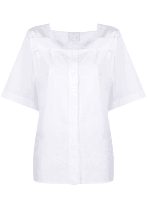 Givenchy pleated cotton poplin top - White