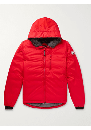 CANADA GOOSE - Lodge Slim-Fit Nylon-Ripstop Hooded Down Jacket - Men - Red - XS