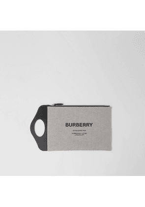 Burberry Canvas and Leather Pocket Pouch