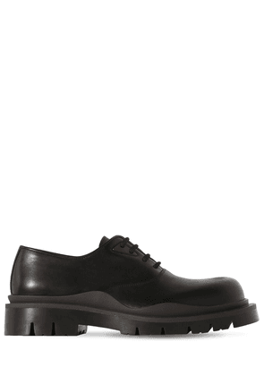 Tire Leather Lace-up Shoes
