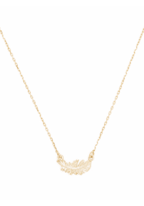 Alex Monroe 18kt yellow gold In-Line Plume necklace