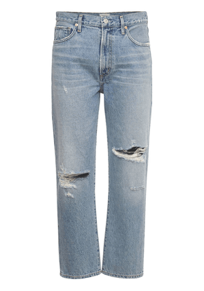 Marlee Relaxed Taper Cotton Denim Jeans