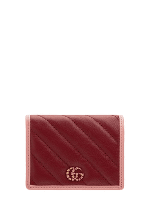 Gg Marmont Leather Card Case Wallet
