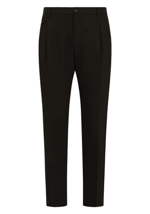 Dolce & Gabbana slim-fit tailored trousers - Black