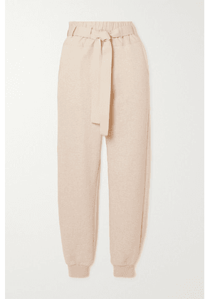 Ulla Johnson - Haven Belted Cotton-jersey And Poplin Track Pants - Beige