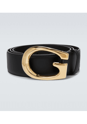 G buckle leather belt