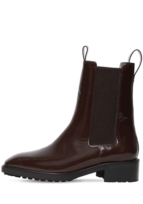 50mm Simone Brushed Leather Ankle Boots