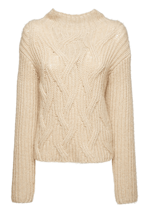 Cashmere & Silk Knit Cable Sweater