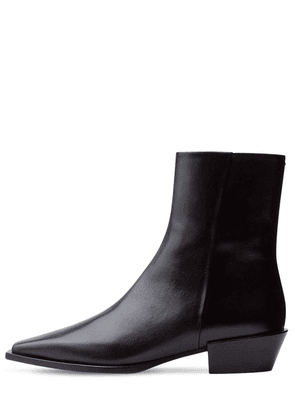 40mm Ruby Leather Ankle Boots