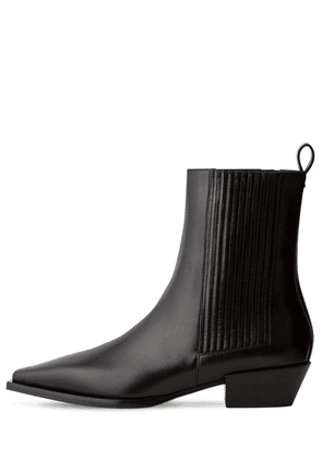 40mm Belinda Leather Ankle Boots