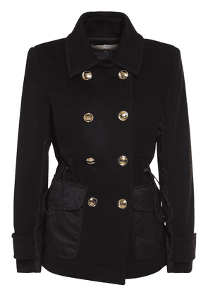Compact Wool & Cashmere Caban Coat