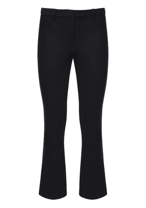 Cropped Stretch Cotton Twill Pants