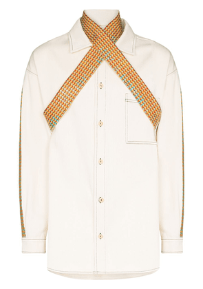 Bethany Williams Book Waste panelled shirt - Neutrals