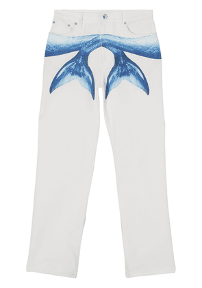 Burberry Mermaid Tail printed jeans - White