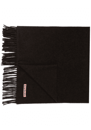 Acne Studios oversized fringed wool scarf - Brown