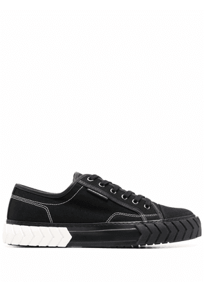 Both textured-sole sneakers - Black