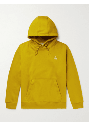 Nike - ACG NRG Logo-Embroidered Cotton-Blend Jersey Hoodie - Men - Yellow - S