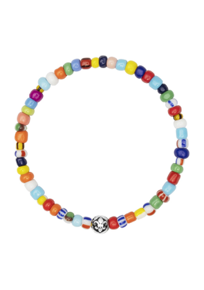 Sulver Assorted Vintage Trifocal Beads Wristband