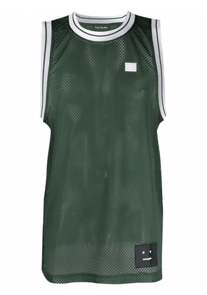 Acne Studios face patch basketball jersey - Green