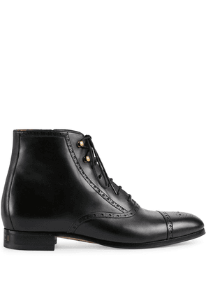 Gucci brogue-detailed boots - Black