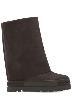 80mm Double Face Suede Ankle Boots