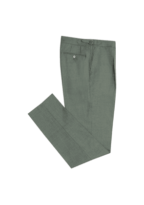 Green VBC 2-Ply Wool Trousers