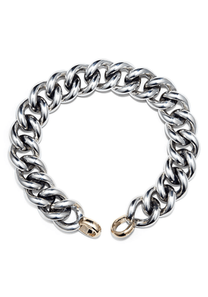 Marla Aaron 14kt yellow gold and sterling silver Mega chain bracelet