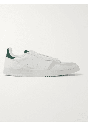 ADIDAS ORIGINALS - Supercourt Suede-Trimmed Leather Sneakers - Men - White - UK 4.5