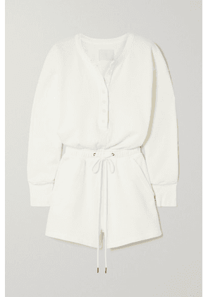 Citizens of Humanity - Loulou Cotton-fleece Playsuit - Cream