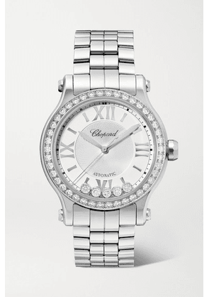 Chopard - Happy Sport Automatic 33mm Stainless Steel And Diamond Watch - Gray