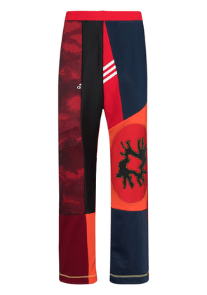 Bethany Williams x The Magpie Project panelled track pants - Red