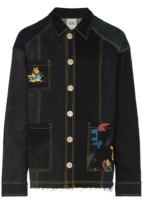 Bethany Williams x The Magpie Project patchwork denim jacket - Black