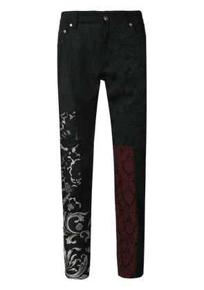 Dolce & Gabbana lace panelled trousers - Multicolour