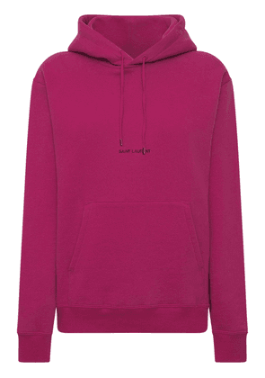 Cotton Front Logo Hoodie