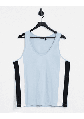 ASOS DESIGN relaxed vest in light blue with side panel details