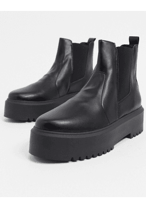 ASOS DESIGN Aberdeen chunky chelsea boots in black