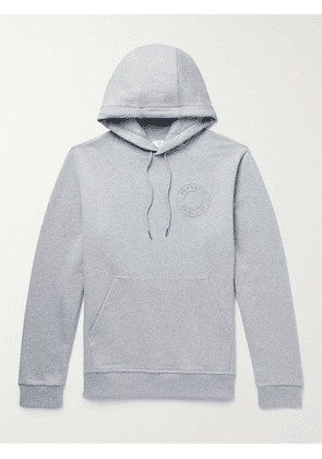 Burberry - Logo-Embrodered Cotton-Jersey Hoodie - Men - Gray - S
