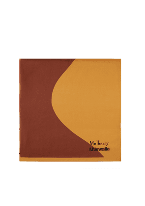 Mulberry Women's Mulberry x Ahluwalia Square Scarf - Deep Amber