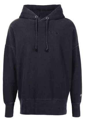 Champion embroidered-logo hoodie - Blue