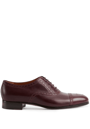 Gucci brogue-detailed Derby shoes - Red