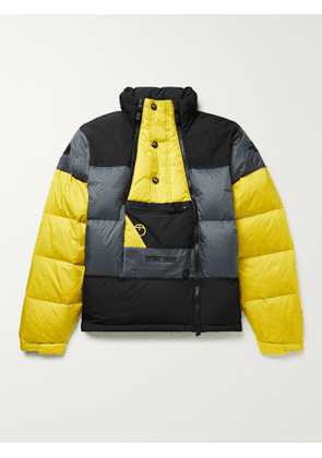 THE NORTH FACE - Steep Tech Colour-Block Quilted Nylon-Ripstop Down Jacket - Men - Yellow - S